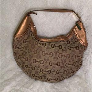 Gucci Handbag Crescent Hobo Gold Horse bit Logo